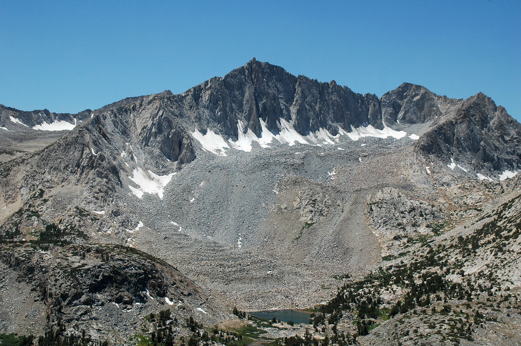 Closer view of Mount Goode.
