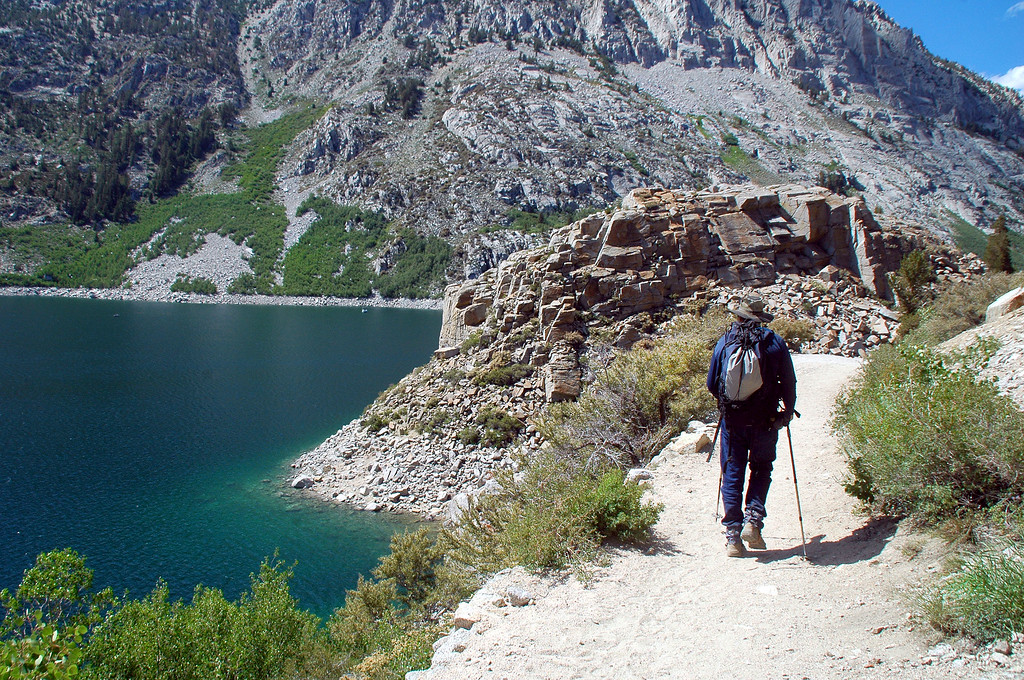 Back at South Lake, the hike is almost over.
