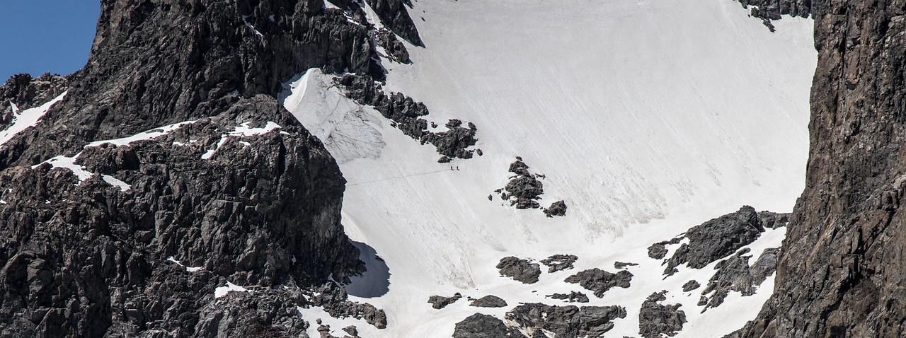 Climbers on SE Glacier