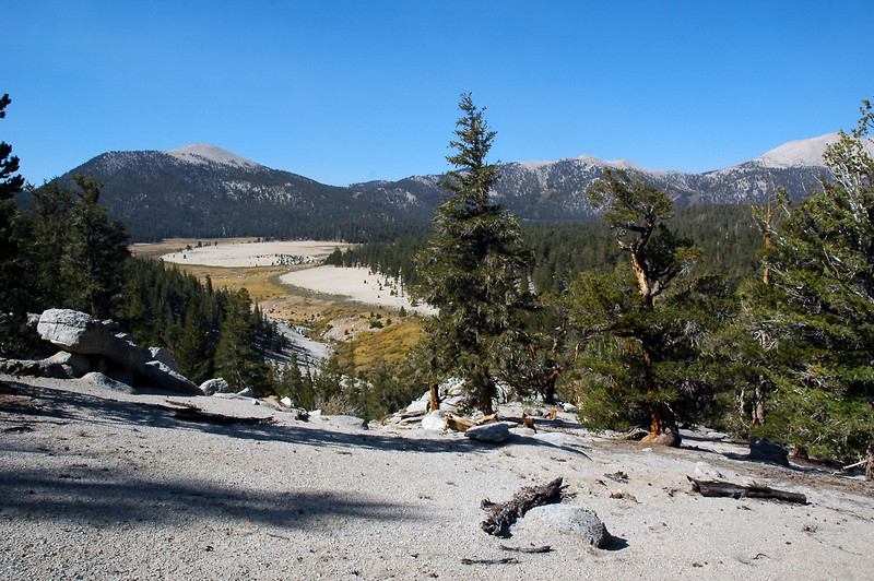 Looking back at Round Valley and Trail Peak.