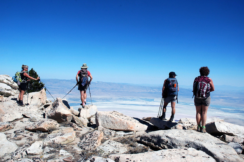 When we reached the high point, we got a great view of Owens Lake and a section of the Owens Valley.
