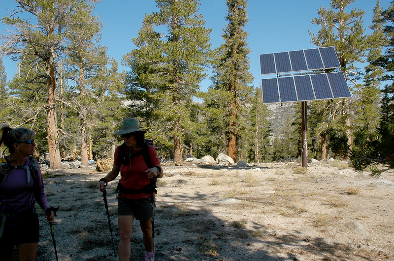 We past by this solar panel near the start of the hike. Checking the map, the area from here and all the way to the peak is in the Last Chace Meadow Research Natural Area, the panel may have something to do with that.