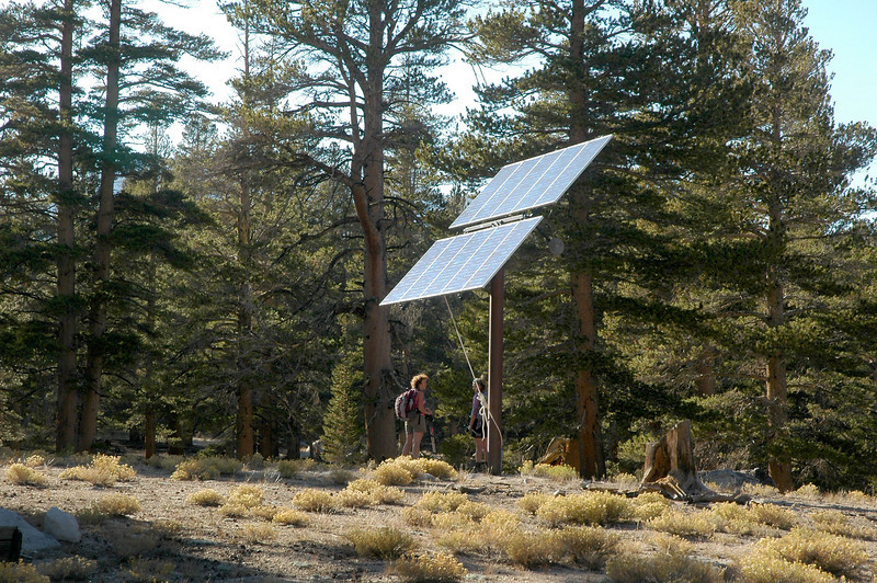 Back at the solar panel, the hike is almost over. Fun hike with a great group of people.<br /> <br /> THE END