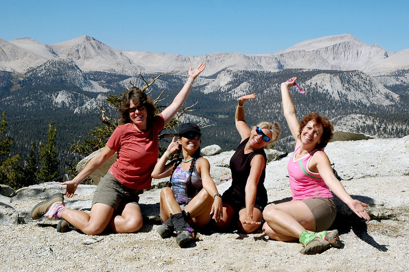 The mountain ladies. Rachel, Cori, Sooz and Kathy.