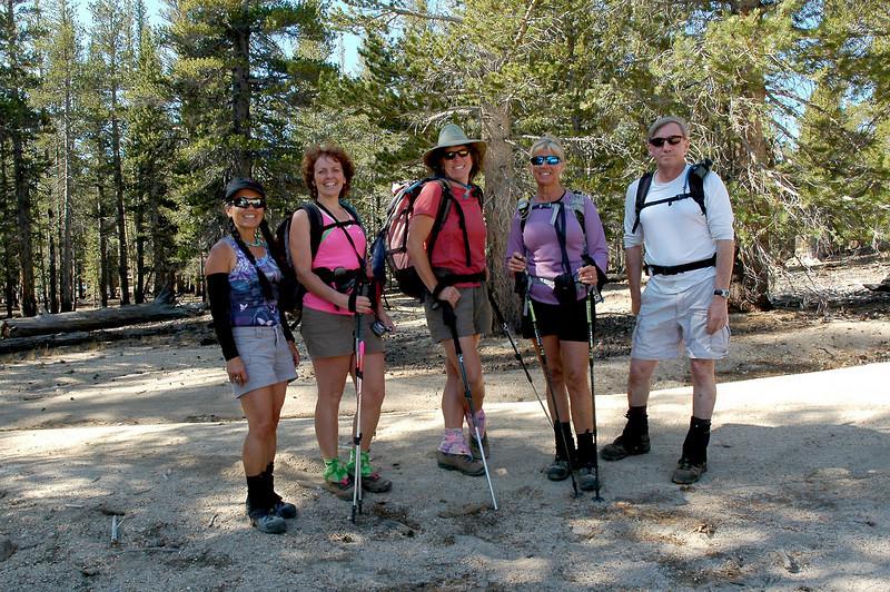 Cori, Kathy, Rachel, Sooz and Joe, me at the start of the hike.