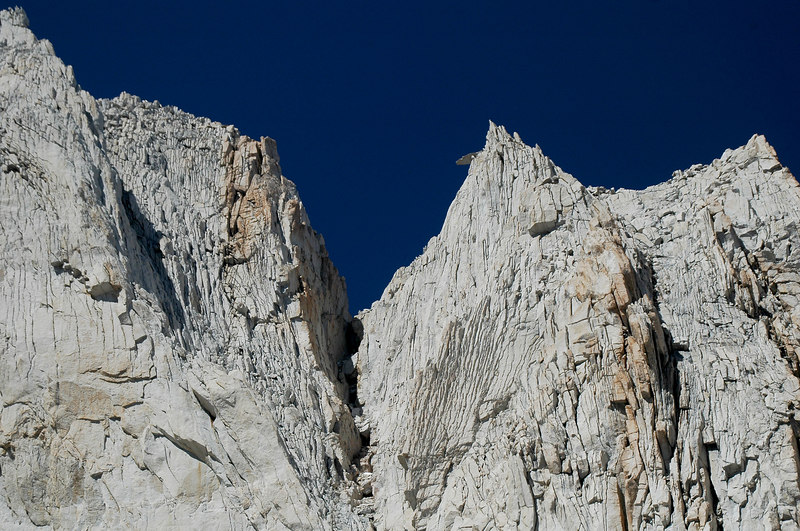 Zoomed in a little, you can see what we were calling the diving board near the peak.