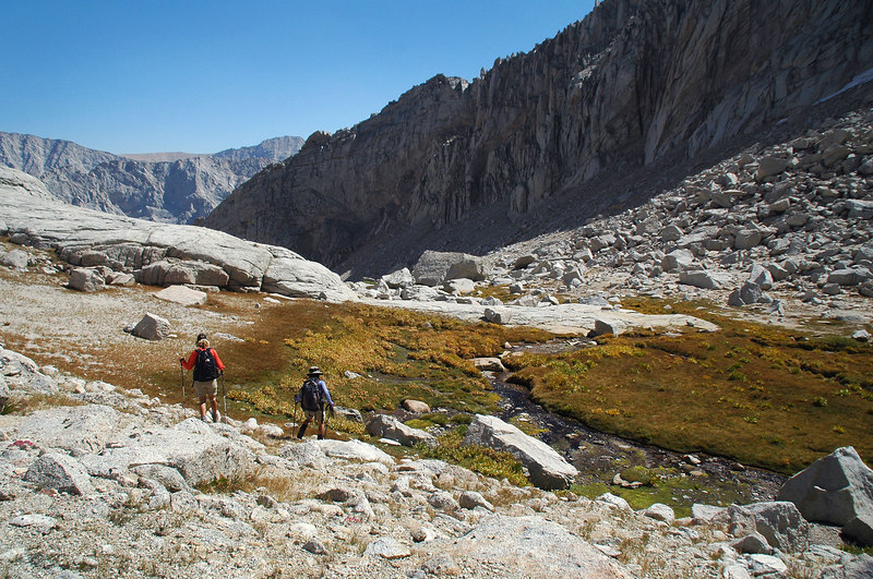 Approaching a small meadow at 11,500'.