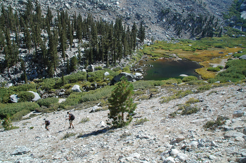 Almost back down to Lower Boy Scout Lake.