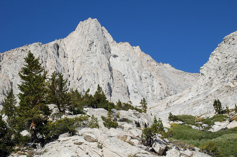 Looking up the canyon we will follow. We're at about 11,000' at this point almost above tree line.
