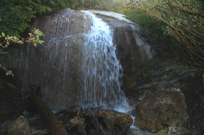 Waterfall at the crossing.