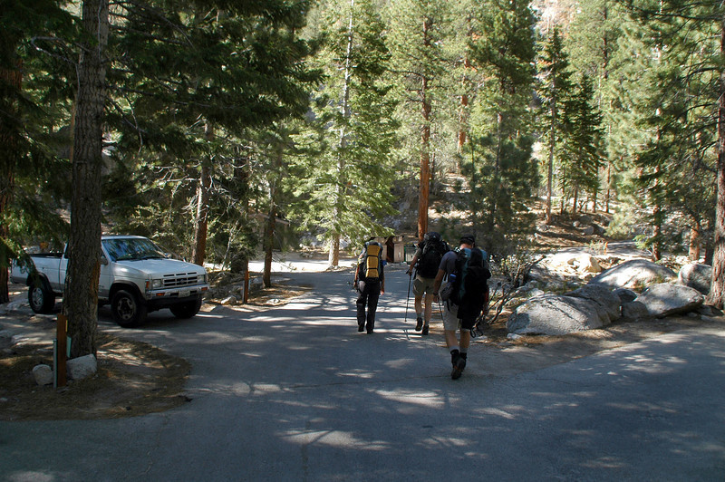 First part of this hike takes us through a campground.