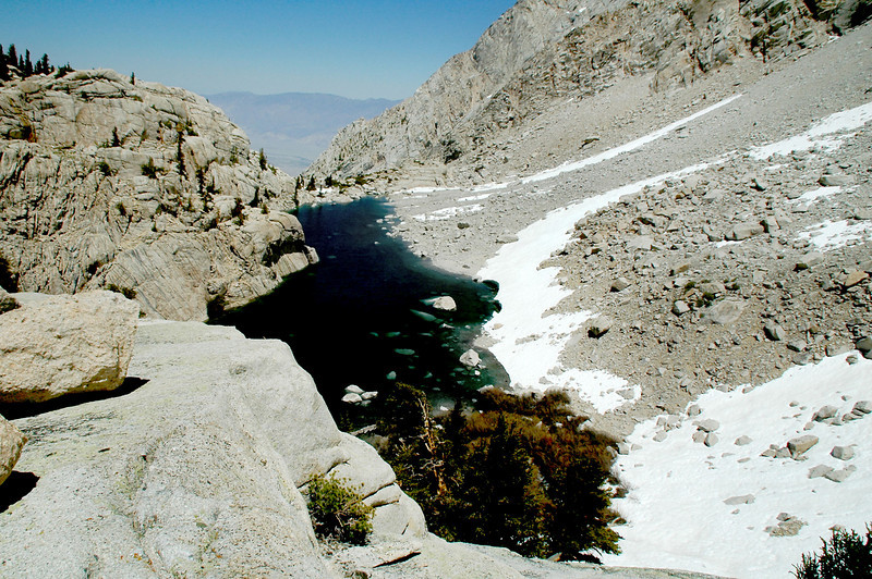 Looking down on Peanut Lake.