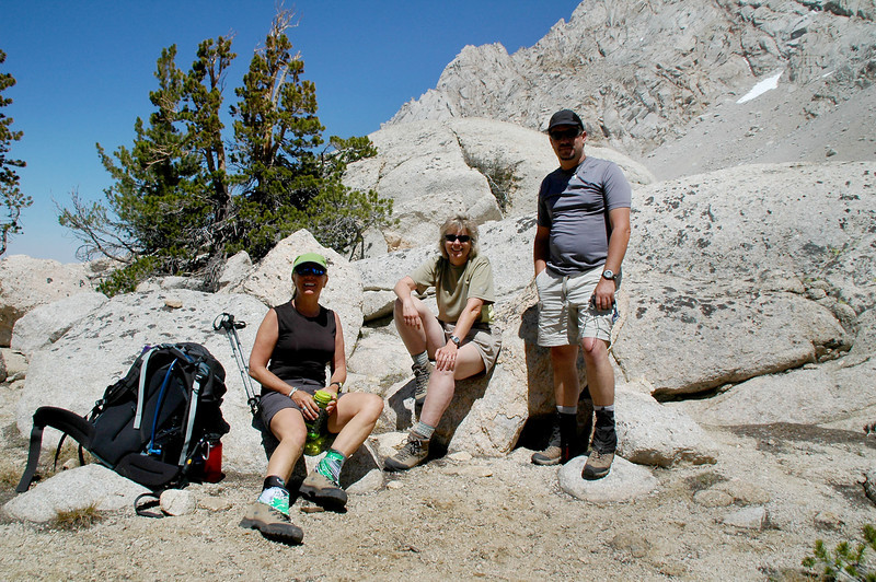 Sooz, Robin and Chip are spending the night at Grass Lake, I'm only day hiking, time for me to start hiking down.