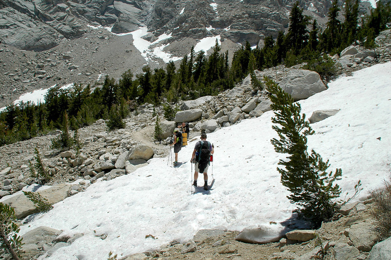 This was the first snow we came upon.