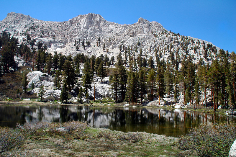 At Grass Lake at 10,850 feet.