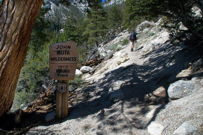 Entering the John Muir Wilderness.