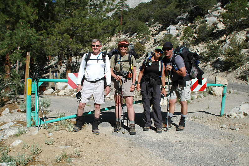 Joe(me), Robin, Sooz and Chip at the start of the Meyson Lake Trail just off the Whitney Portal Road at 7,860 feet. The group will be spending the night at Grass Lake, but I'll just be doing a day hke.