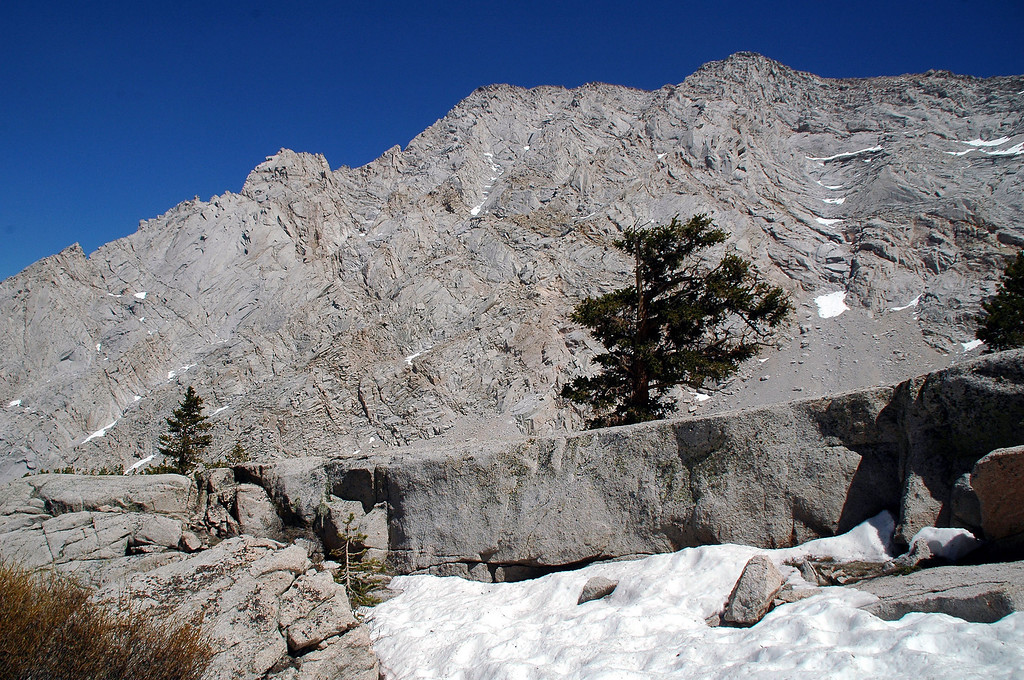 Another view of Lone Pine Peak's west face.