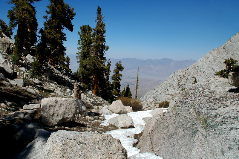 This is at the high point of my hike at 11,100 feet just before starting the down hill.