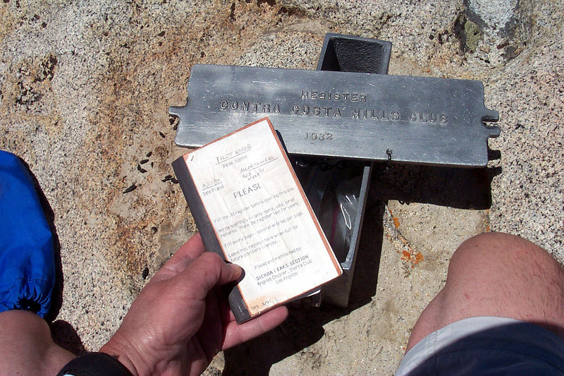 The register box was placed here in 1932. The book only goes back to 1999.