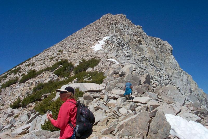 Starting the hike up the rocky ridge.