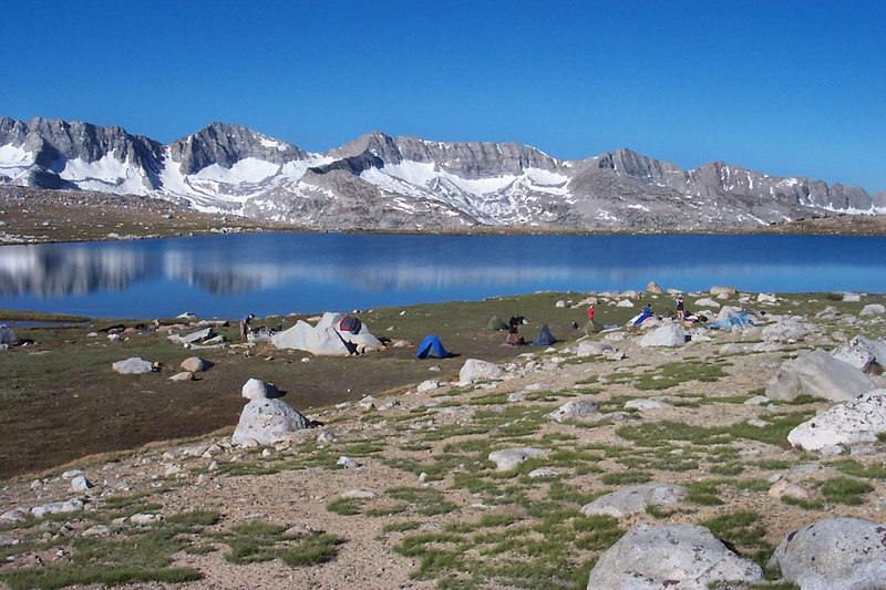 Our campsite at Mesa Lake. This is one of the nicest spots I've camped at.