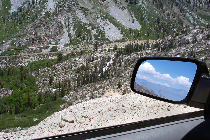 Looking down on Hwy 168 from the North Lake Road. You can see the White Mountains in the mirror across the Owens Valley. This was a great trip with a great group of people. Climbing Pilot Knob was the highlight for me. <br /> <br /> THE END