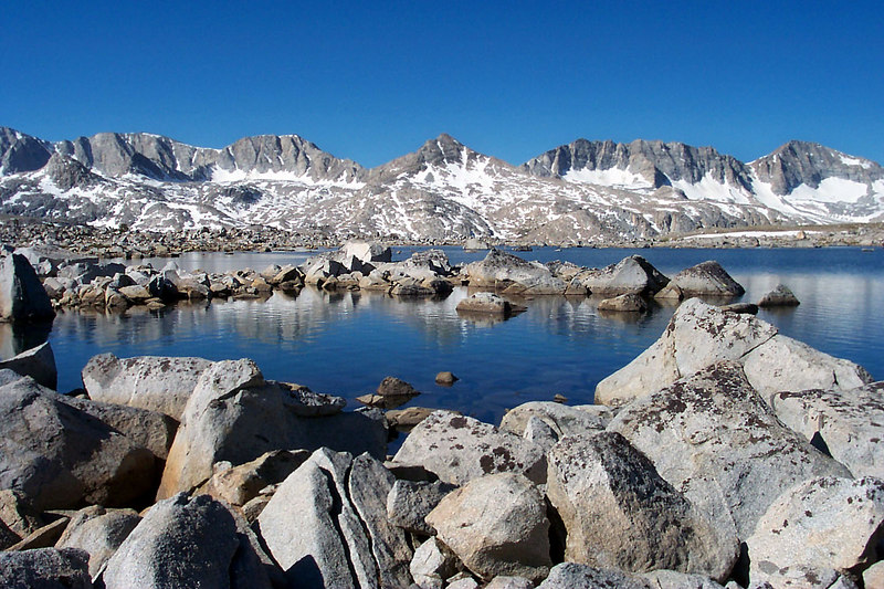 Still at Lower Desolation Lake.