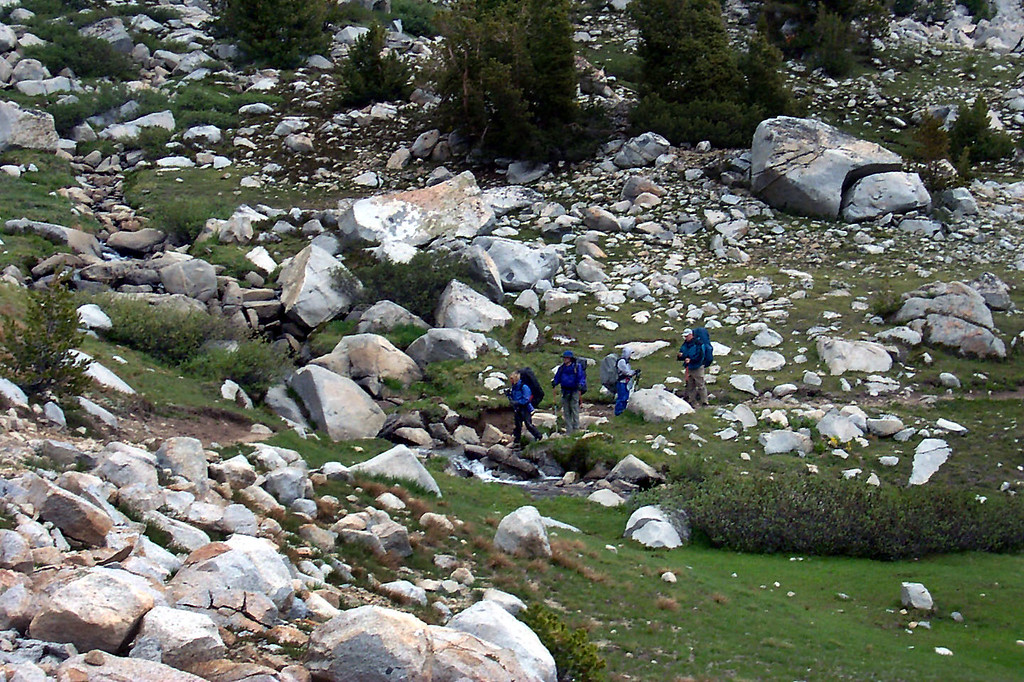 The group at a stream crossing.