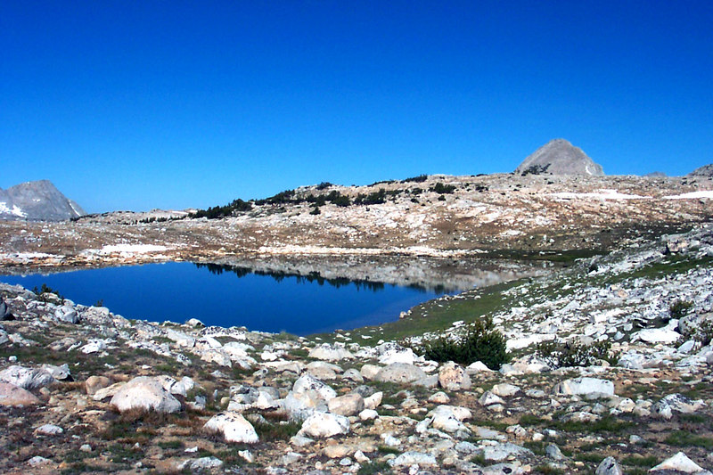 Our route took us past Square Lake. We could see Pilot Knob for most of the hike.