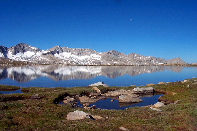 This shot of Mesa Lake and the Glacier Divide was taken as we started the long hike out. Kathy was ready early and started out about an hour before us. I hiked out with Sooz and Andy.