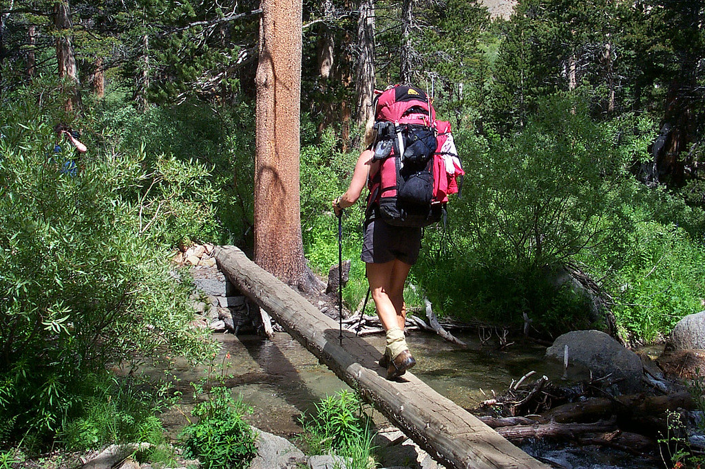 Sooz on the second stream crossing.
