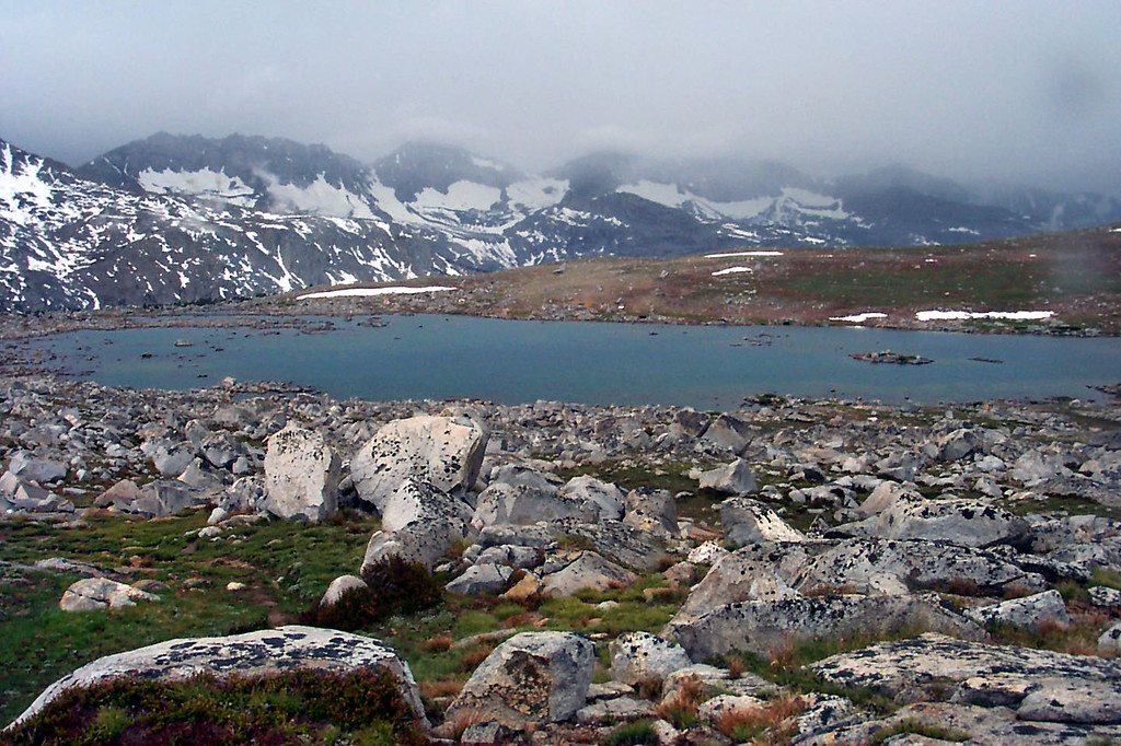 We finally reached Lower Desolation Lake at 11,200 feet, Mesa Lake is about a mile away.