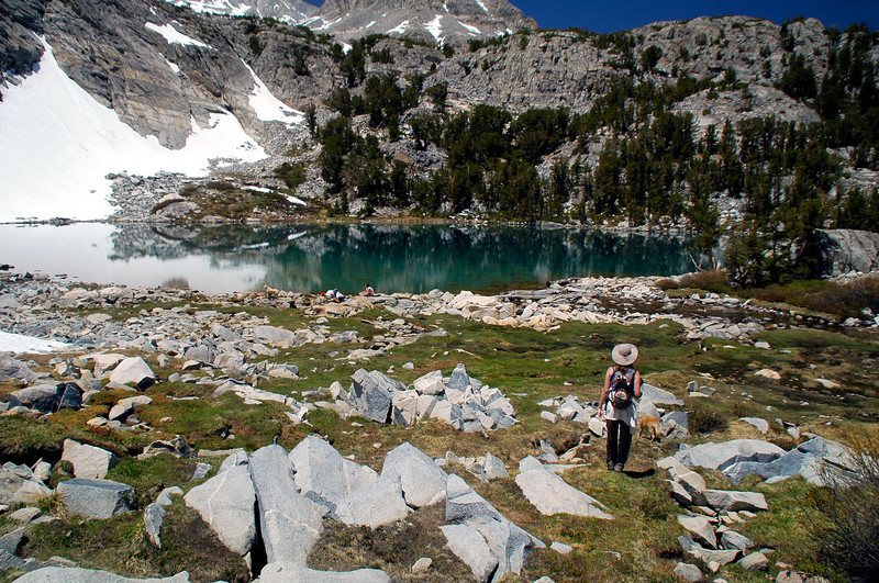 Cat, Bo and I checked out the largest of the Gem Lakes before starting the hike back out.