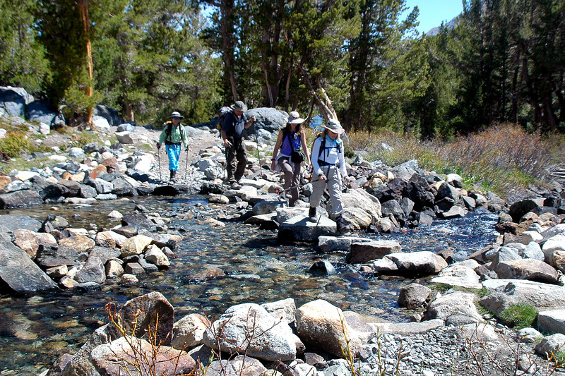 The rest of the group crossing.