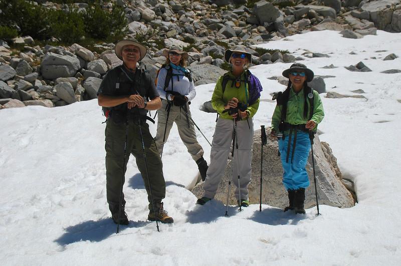 Lewis, Norma, Sooz and Cori continued on to Pyramid Peak.