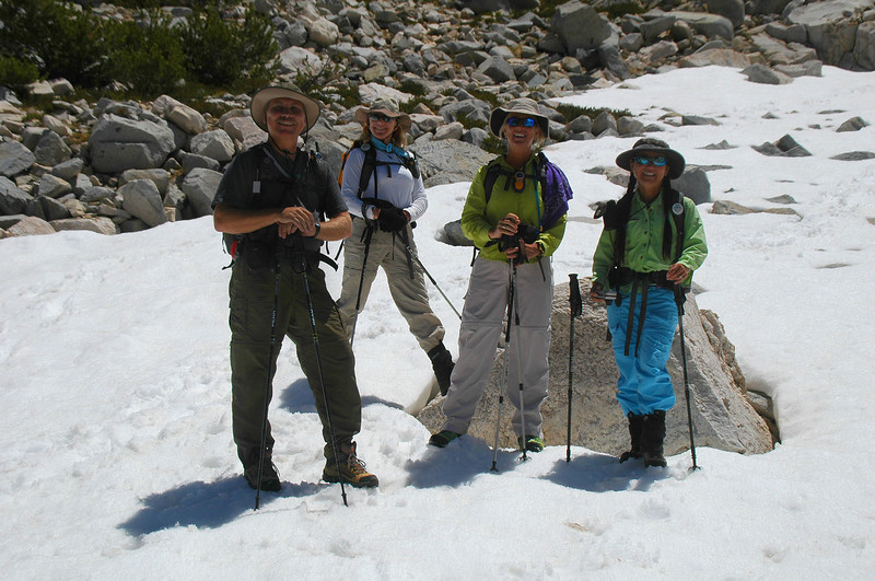 Lewis, Norma, Sooz and Cori continued on to Pyramid Peak.