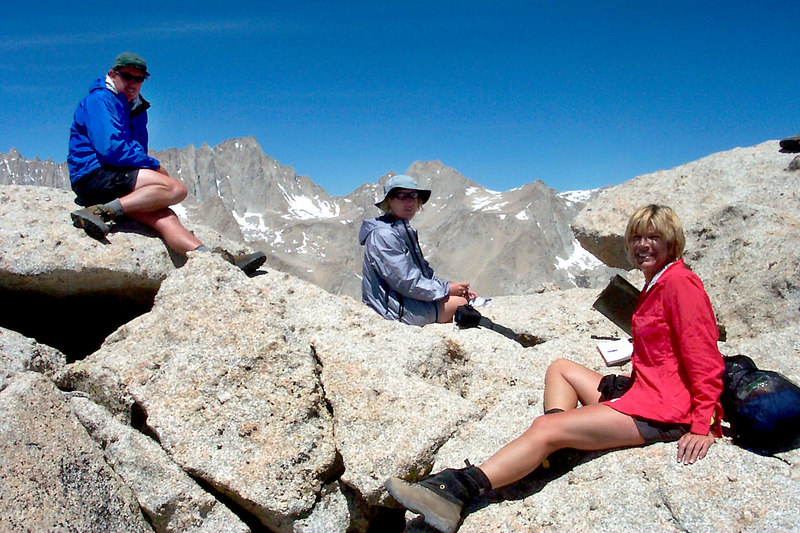 John, Kathy and Sooz with Mount Whitney in the background.