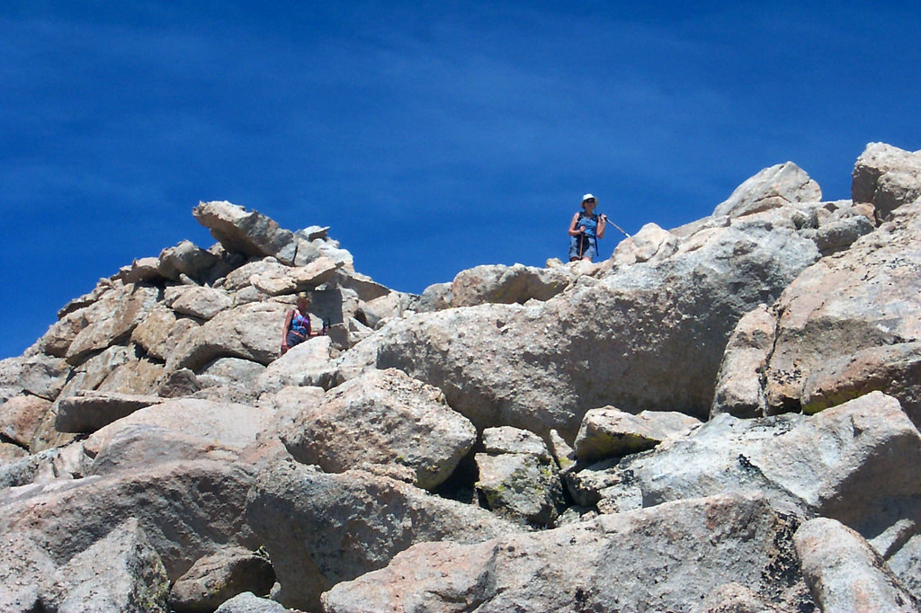 Making our way through the rocks.