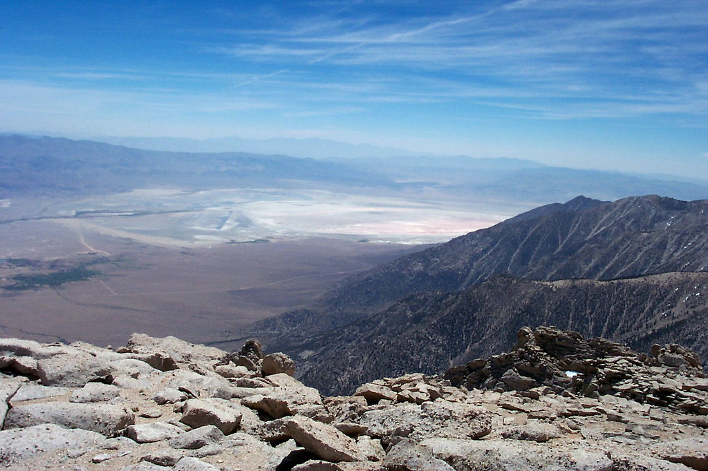 View to the south towards Owens Dry Lake.