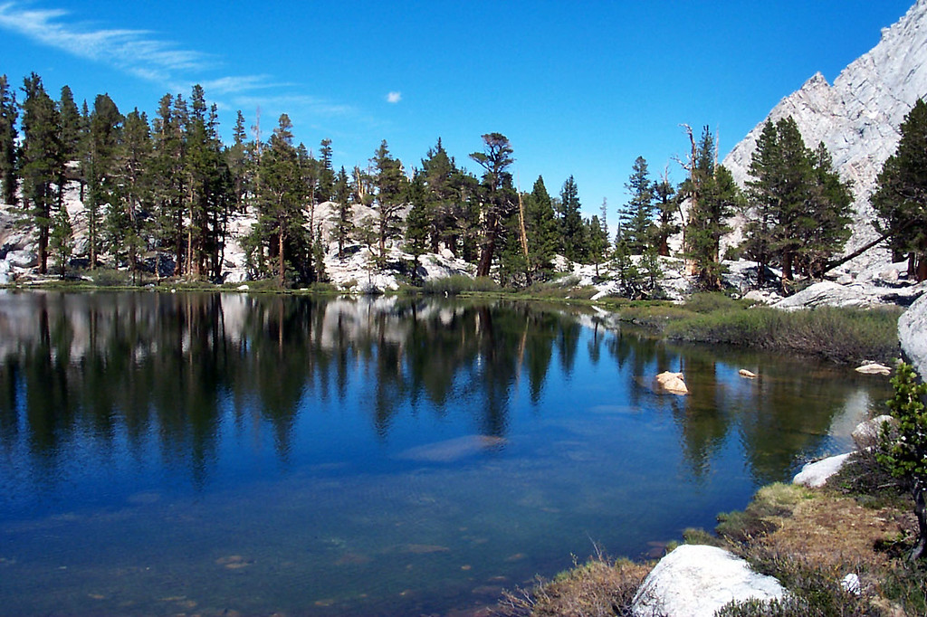 Grass Lake at 10,800 feet, this area will be our camp for the next two days.