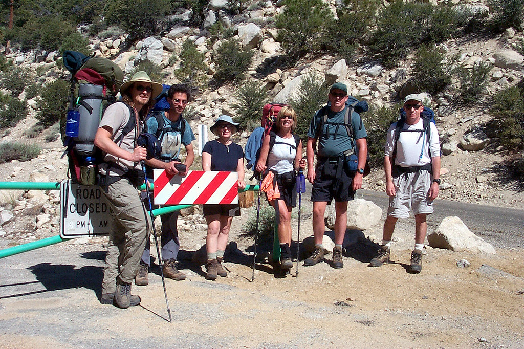 Rob, Jay, Kathy, Sooz, John and Joe(me). We are ready to start the hike to Grass Lake where we will set up camp for the weekend.