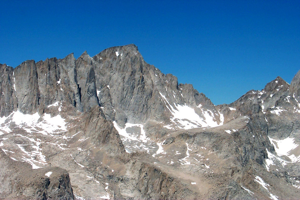 Zoomed in on Mount Whitney.