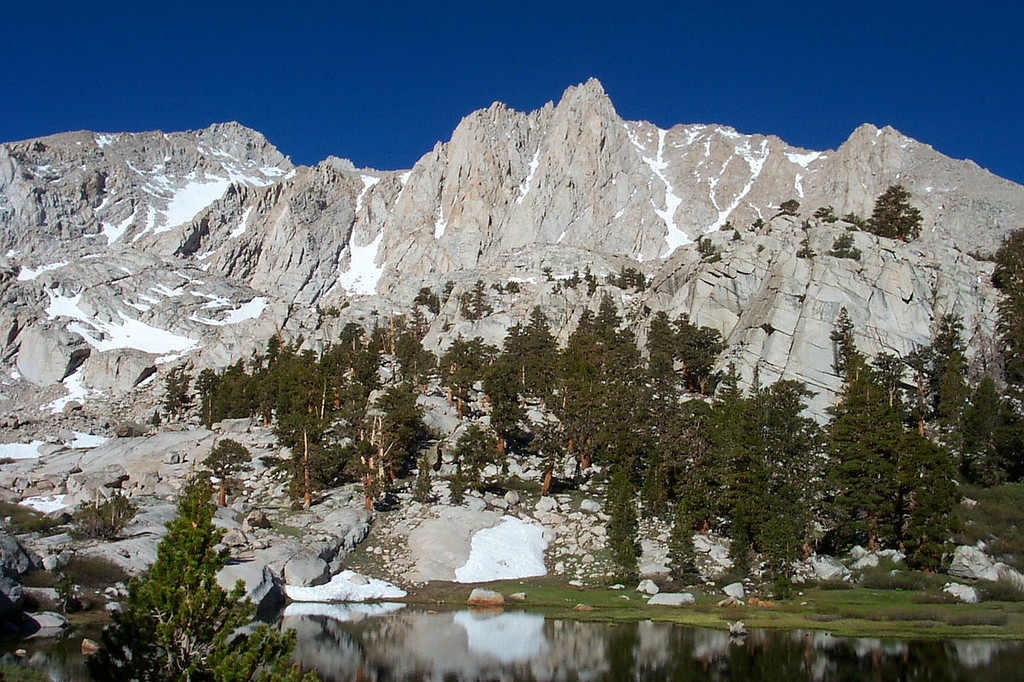 Mount Irvine above Grass Lake.