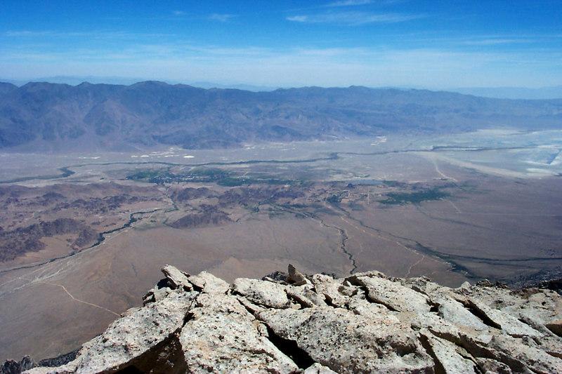 The town of Lone Pine 9,000 feet below.