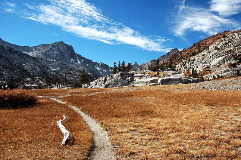 A brown meadow at 10,300 feet, soon this will all be covered in snow.