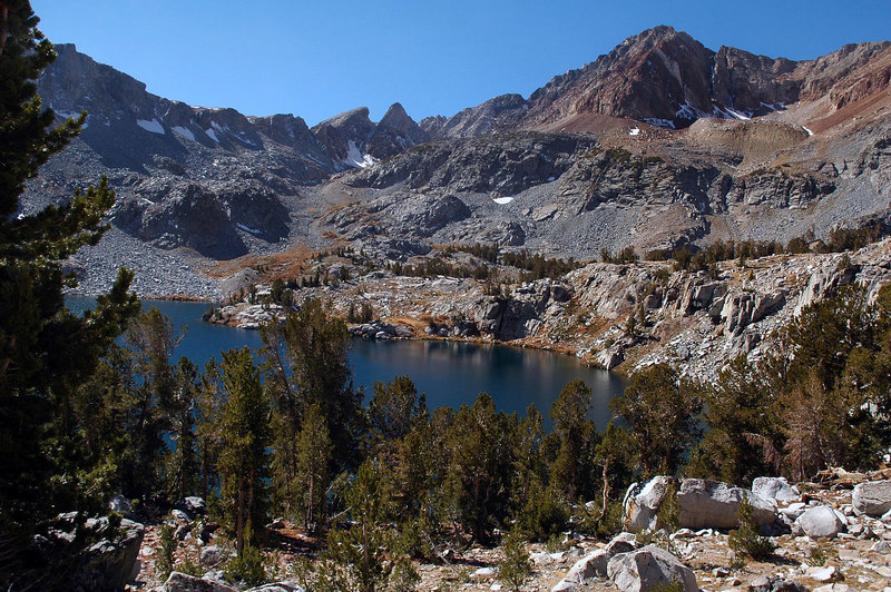 Big McGee Lake at 10,500 feet, this is around 7 miles in.