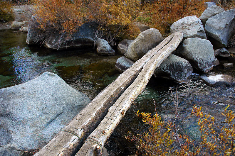 At the second stream crossing.