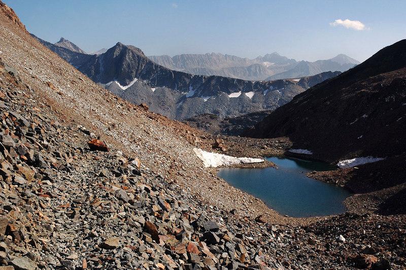 Back at the unnamed lake at 11,400 feet.