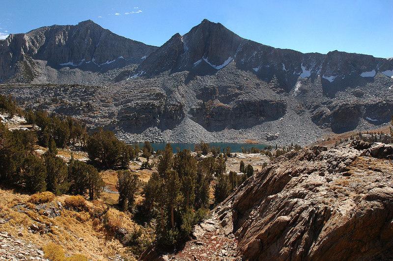 Looking back at Big McGee Lake as I hike on.
